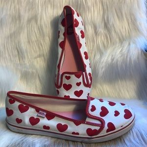 Vans canvas heart shoes